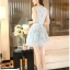 ชุดเดรสสั้นน่ารักสีฟ้า ลายดอกไม้ สวยหวานสไตล์สาวเกาหลี thumbnail 4