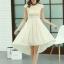 ชุดเดรสออกงานสวยๆ ชุดเดรสสั้น สีเบจ ผ้าชีฟอง ใส่ไปงานแต่งงาน ออกงานเลี้ยง ให้ลุคสาวหวานสไตล์เกาหลี สวยหรู ดูดี ( S M L XL ) thumbnail 5