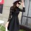 ชุดเดรสสั้นสีดำ แนวคุณหนู เรียบร้อย สวยหรู ดูดี สไตล์เกาหลี thumbnail 3