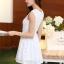 ชุดเดรสไปงานแต่งงาน ใส่ออกงาน สีฟ้า มินิเดรส ผ้าชีฟอง แขนกุด เอวเข้ารูป กระโปรงทรงสวิง ชุดเดรสสวยหวาน น่ารัก แฟชั่นสไตล์เกาหลี ( S,M,L,XL,) thumbnail 3