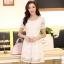 ชุดทำงานสวยๆ ชุดเดรสสั้น สีขาว ให้ลุคสาวหวานสไตล์เกาหลี สวยหรู ดูดี เรียบร้อย ( S,M,L,XL ) thumbnail 1