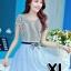 ชุดออกงานแฟชั่นเกาหลีสวยๆ มินิเดรสกระโปรงสั้น สีฟ้า สามารถใส่ไปงานแต่งงาน ทำงานออฟฟิศ จะทำให้คุณกลายเป็นสาวหวาน น่ารัก สดใส ( size XL ) thumbnail 1