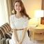 ชุดเดรสสั้นแฟชั่นเกาหลี ชุดเดรสลูกไม้สีขาว แขนสามส่วน เป็นชุดเดรสแนวหวานน่ารัก สวย เรียบร้อย ดูดี ( S M L ) thumbnail 5