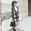 เสื้อโค้ทลายสก๊อตสีดำเทา ทรงสวย เนื้อผ้าดี ลุคสวยน่ารัก สดใส สไตล์เกาหลี thumbnail 1