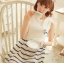 ชุดเดรสแฟชั่นเกาหลี ชุดเดรสแฟชั่นน่ารัก ชุดเดรสสั้น ชุดเดรสสวย ๆ ชุดเดรสแนววินเทจ เสื้อคอกลมแขนกุด ต่อด้วยกระโปรงลายขวาง ( S,M,L ) thumbnail 3