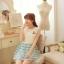 ชุดเดรสแฟชั่นเกาหลี ชุดเดรสแฟชั่นน่ารัก ชุดเดรสสั้น ชุดเดรสสวย ๆ ชุดเดรสแนววินเทจ เสื้อคอกลมแขนกุด ต่อด้วยกระโปรงลายขวาง ( S,M,L ) thumbnail 7