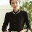 เสื้อทำงานแฟชั่นสไตล์เกาหลีสวยๆ เสื้อแขนยาวสีดำ ผ้าชีฟอง คอจีนประดับมุก ,เสื้อทำงานสวยๆราคาถูก thumbnail 1