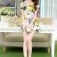 ชุดเดรสสั้นแฟชั่นเกาหลี มินิเดรสกระโปรง สีเหลืองพิมพ์ลายดอกไม้น่ารักๆ เหมาะสำหรับใส่เที่ยววันสบายๆ เดินห้างช้อปปิ้ง ดูหนัง แบบสวยๆน่ารักๆ สไตล์สาวหวาน thumbnail 3