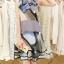 ชุดเดรสสั้นน่ารักสดใส โทนสีเทา ดำ ทรงปล่อยสวมใส่สบาย ตกแต่งโบว์ที่คอสุดเก๋ thumbnail 5