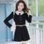ชุดทำงานสวยๆ ชุดเดรสสั้น สีดำ คอปก แขนยาว ให้ลุคสาวหวานสไตล์เกาหลี สวยหรู ดูดี ( S M L ) thumbnail 1