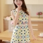 ชุดเดรสสั้นแฟชั่นเกาหลี พิมพ์ลายเก๋ๆ สีสดใส เหมาะกับการใส่เที่ยวสบาย หรือ จะใส่ไปงานเลี้ยง จะทำให้คุณดูสวย สง่า มั่นใจ thumbnail 1
