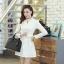 ชุดเดรสสั้นแฟชั่นเกาหลี มินิเดรสสั้นสีขาว คอปักมุก แขนยาว เป็นชุดเดรสสวยๆ แนวหวานน่ารัก เรียบร้อย ดูดี สามารถใส่ออกงานได้ ( M L XL ) thumbnail 6