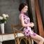 ชุดเดรสทำงาน ชุดแซกทำงานสวยๆสไตล์สาวหมวย ลายดอกไม้สีชมพู คอจีน เข้ารูป ผ้าโพลีเอสเตอร์ thumbnail 7