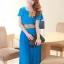 ชุดเดรสออกงาน,ชุดไปงานแต่งงานสวยๆ ชุดเดรสยาว สีฟ้า ผ้าชีฟอง ให้ลุคสาวหวานสไตล์เกาหลี สวยหรู ดูดี ( S M L ) thumbnail 1