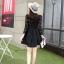 ชุดเดรสสั้นสีดำ แนวคุณหนู เรียบร้อย สวยหรู ดูดี สไตล์เกาหลี thumbnail 9