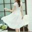 ชุดเดรสออกงานสวยๆ ชุดเดรสสั้นสีขาว ผ้าชีฟอง ใส่ไปงานแต่งงาน ออกงานเลี้ยง ให้ลุคสาวหวานสไตล์เกาหลี สวยหรู ดูดี ( S M L XL ) thumbnail 2
