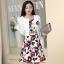ชุดเดรสทำงานเกาหลี เดรสสั้นพิมพืลายดอกไม้สีแดงดำ มาคู่กับเสื้อสูทตัวสั้นสีขาว เนื้อผ้าดี ทำให้คุณสาวๆ ดูสวยง่า ( M L XL XXL ) thumbnail 1