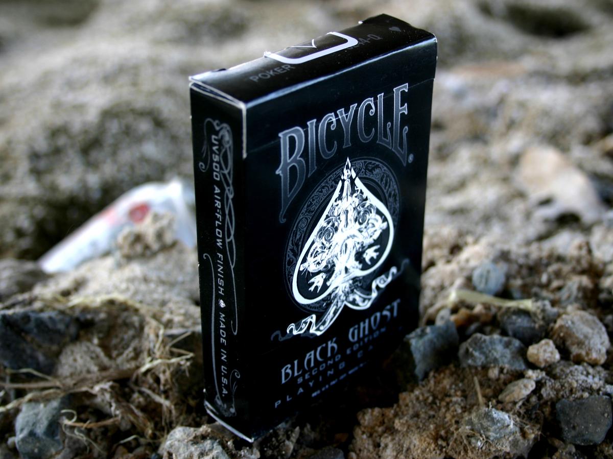 ขายไพ่ Bicycle Black Ghost Deck 2nd edition - Magickardshop ...