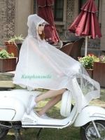 เสื้อกันฝนสีขาวขุ่นกี่งใส มอเตอร์ไซค์ รหัส 04-LX
