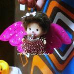 ตุ๊กตา-ปีกนางฟ้า ห้อยหน้ารถจากเกาหลีสีบานเย็น
