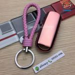 กรอบ-เคสยาง TPU ใส่กุญแจรีโมทรถยนต์ Mazda 2,3/CX-3,5 Smart Key 2 ปุ่ม (สีชมพู+พวงกุญแจ)