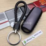 กรอบ-เคสยาง TPU ใส่กุญแจรีโมทรถยนต์ Mazda 2,3/CX-3,5 Smart Key 2 ปุ่ม (สีดำ+พวงกุญแจ)