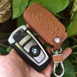 ซองหนังแท้ใส่กุญแจรีโมทรถยนต์ Bmw New Series 3,5 สีน้ำตาล