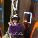 ตุ๊กตา-นางฟ้า+พู่ม่วง ห้อยหน้ารถ จากเกาหลี