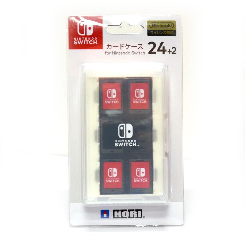 Hori™ Card Case 24+2 (NSW-028) กล่องใส่ตลับเกม 24+2 สีขาว ยี่ห้อโฮริ ของแท้ จากญี่ปุ่น