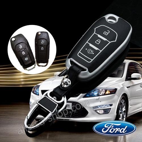 กรอบ-เคส ใส่กุญแจรีโมทรถยนต์ รุ่นเรืองแสง All New Ford Ranger,Everest 2015-17 Key 2-3 ปุ่ม