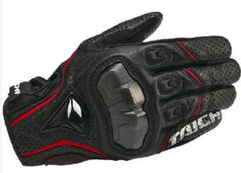 ถุงมือมอเตอร์ไซค์ RS-TAICHI ญี่ปุ่นแท้ RST390 ดำ-แดง
