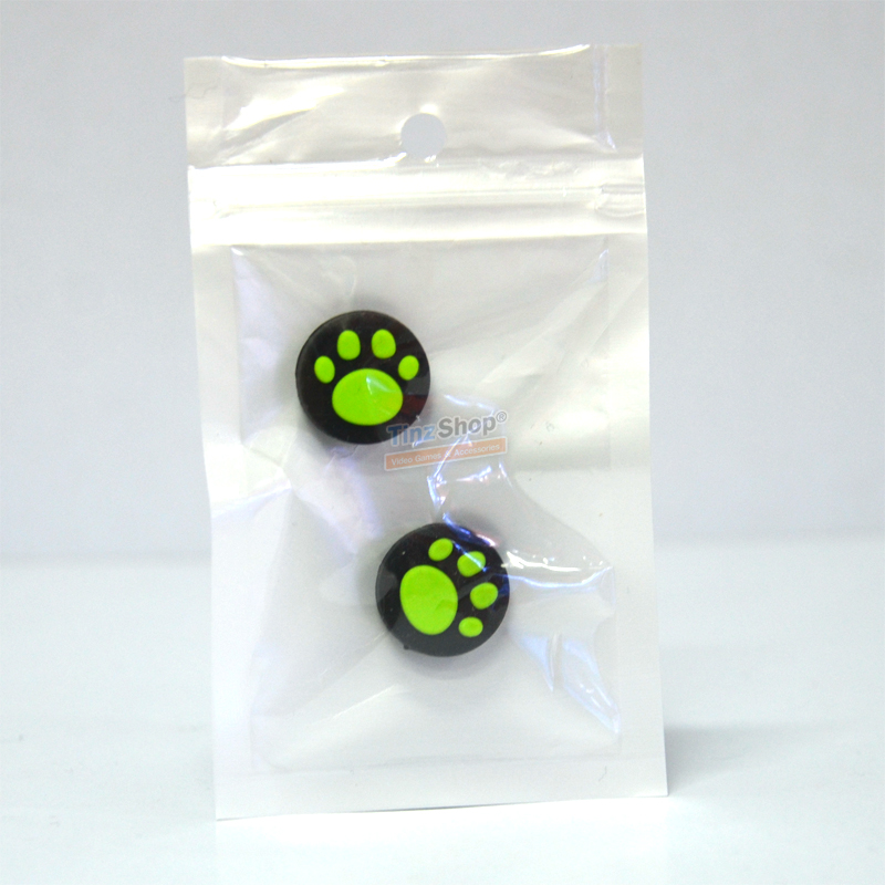 ครอบปุ่มลายตีนแมว ++ Joy-Con Analog Cap Cat Claw (ฺGreen) ราคาคู่ละ 89.-