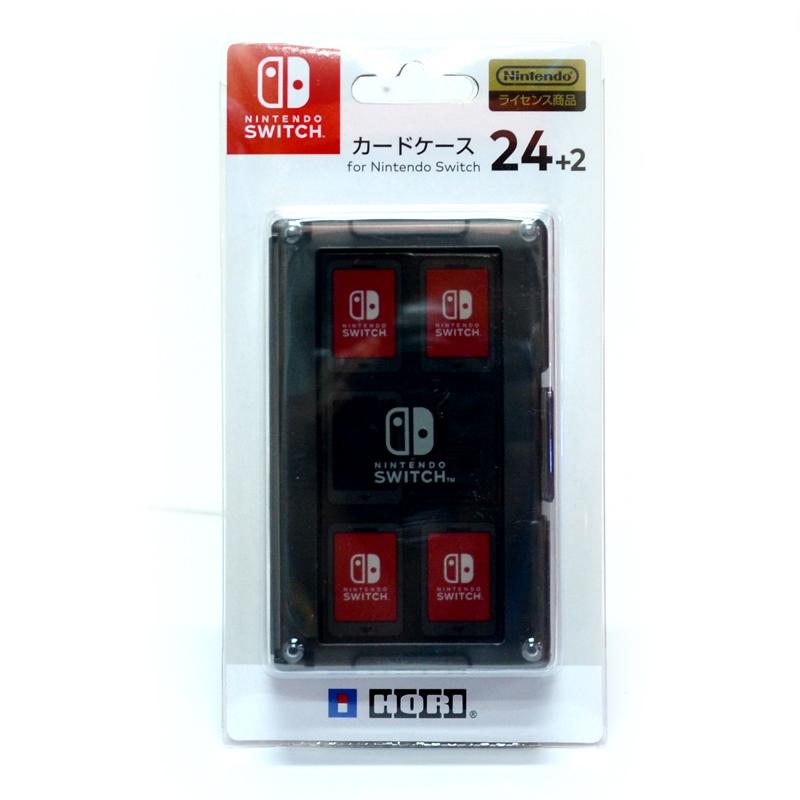 Hori™ Card Case 24+2 (NSW-025) กล่องใส่ตลับเกม 24+2 สีดำ ยี่ห้อโฮริ ของแท้ จากญี่ปุ่น