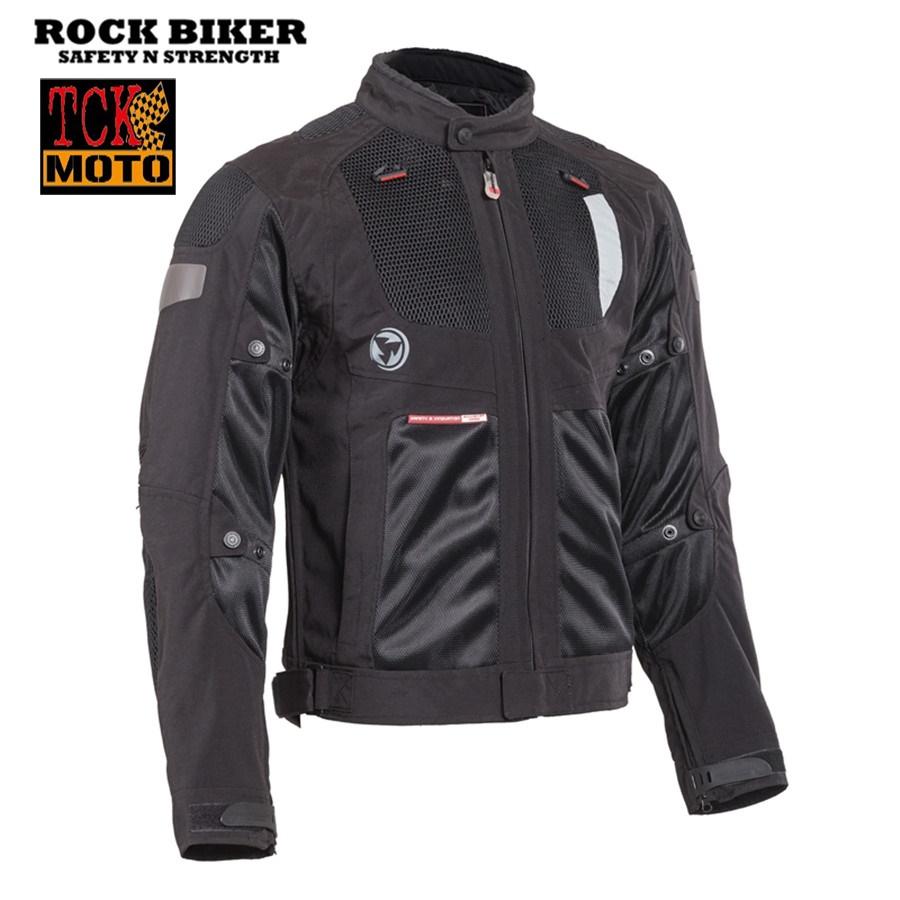 เสื้อการ์ดทัวริ่ง Rock Biker สีดำ