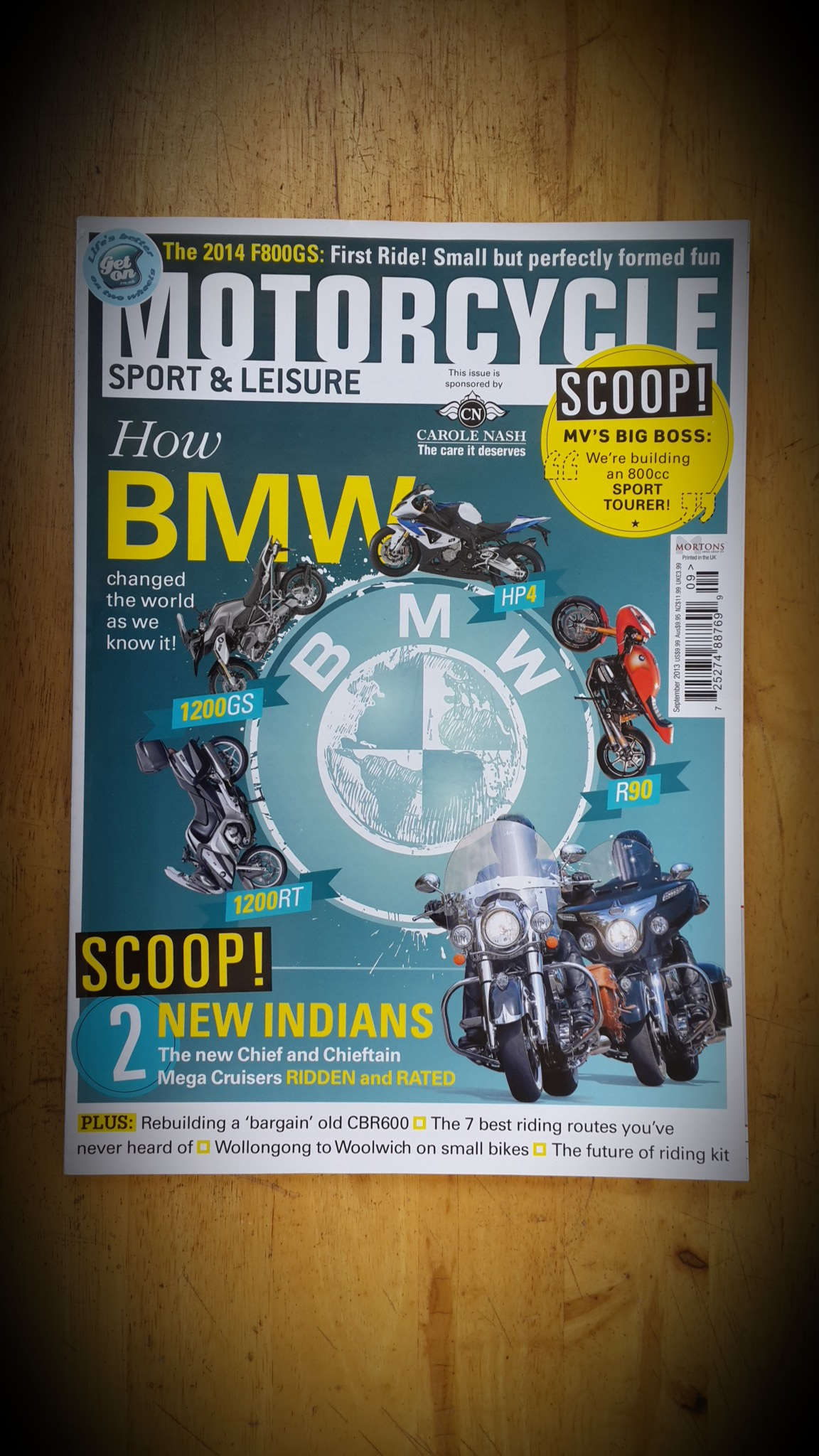 MOTORCYCLE SPORT&LEISURE : ISSUE 636 SEPTEMBER 2013