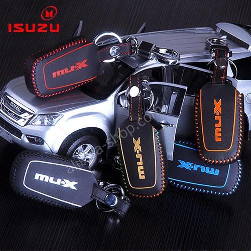 ซองหนังแท้ ใส่กุญแจรีโมทรถยนต์ NEW!! ISUZU D-Max X-Series,MU-X รุ่น ด้ายสี
