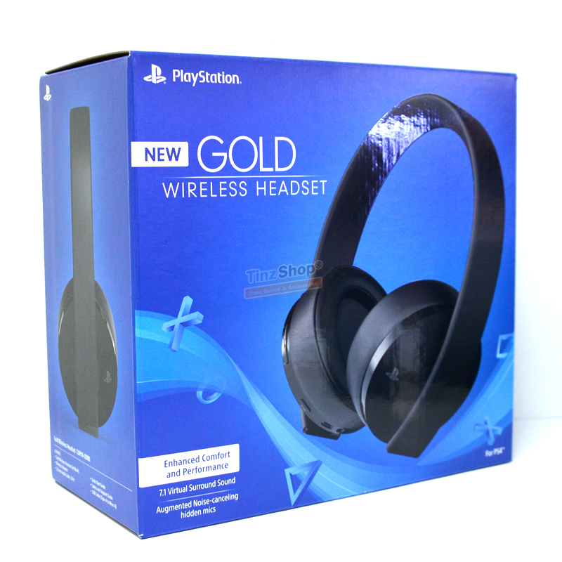 PS4 New Gold Wireless Headset for PS4 and PS VR (CUHYA-0080) ราคา 3590.- // ส่งฟรี
