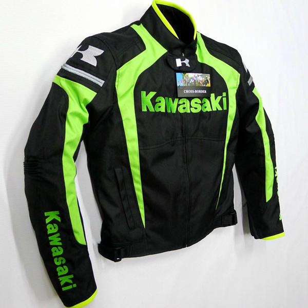 ชุดขี่มอเตอร์ไซค์ เสื้อแจ็คเก็ต เสื้อการ์ดอ่อน คาวาวากิ 2014 ไซน์ XL