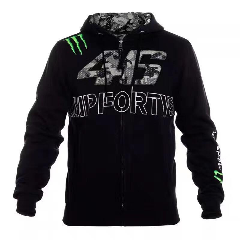 เสื้อแจ็คเก็ต เสื้อฮูดMonster สีดำ