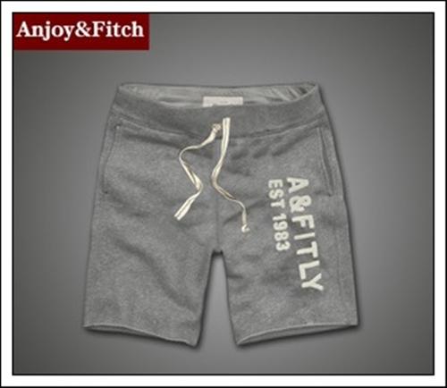 กางเกงขาสั้นผ้ายืดชาย กางเกงขาสั้น AbercrombieFitch Men (AF) สีเทา