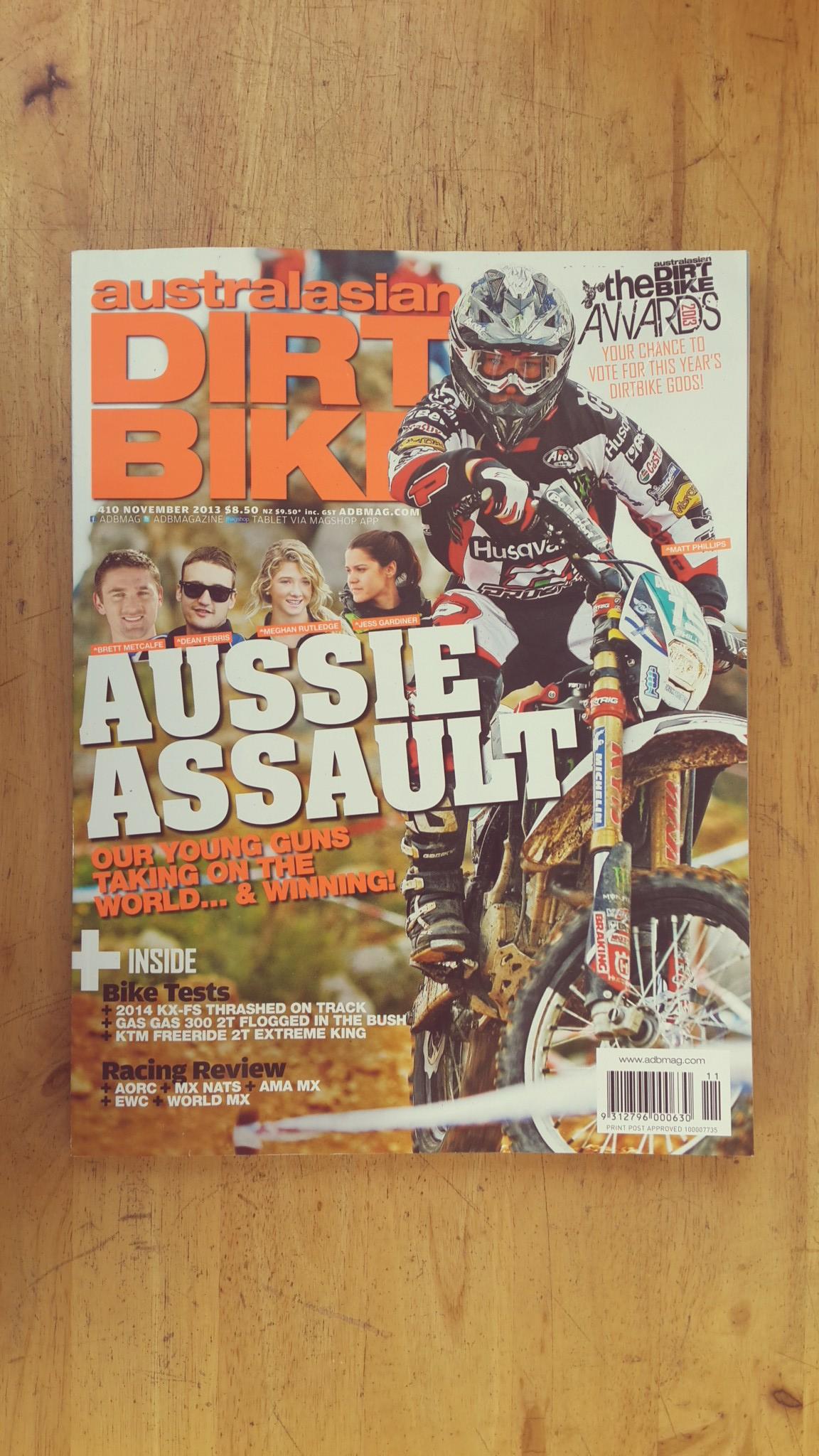AUSTRALASIAN DIRT BIKE : ISSUE #410 NOVEMBER 2013