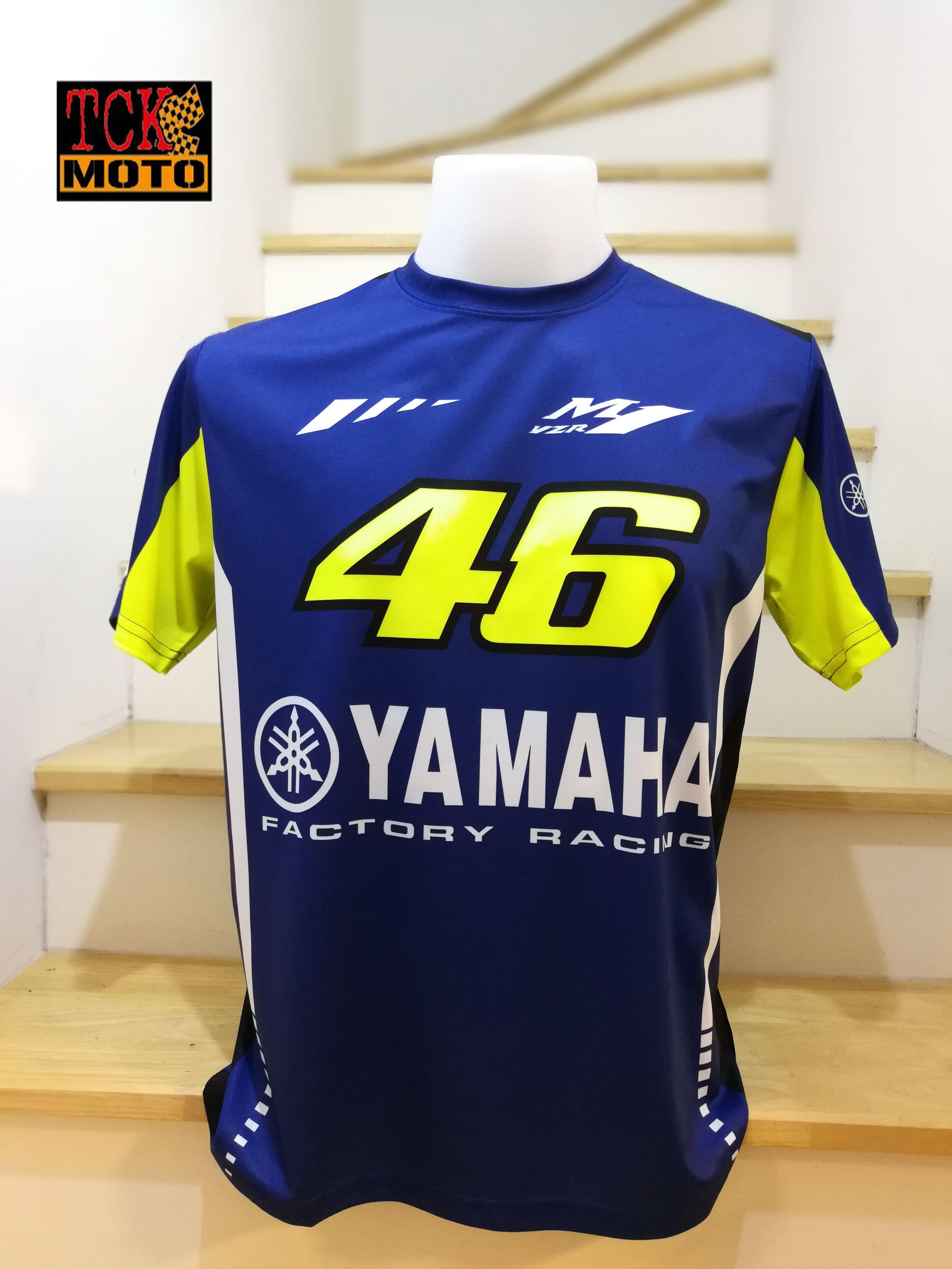 เสื้อยืด yamaha MotoGP 2018 ผ้าไมรโคร