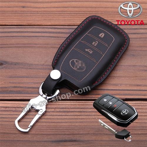New ซองหนังแท้ ใส่กุญแจรีโมทรถยนต์ รุ่นหนังนิ่ม Toyota Hilux Revo กุญแจอัจฉริยะ 3 ปุ่ม