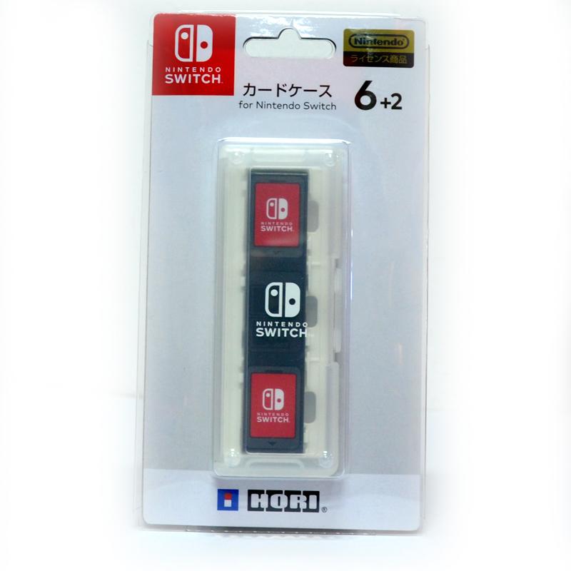 Hori™ Card Case 6+2 (NSW-020) กล่องใส่ตลับเกม 6+2 สีขาว ยี่ห้อโฮริ ของแท้ จากญี่ปุ่น