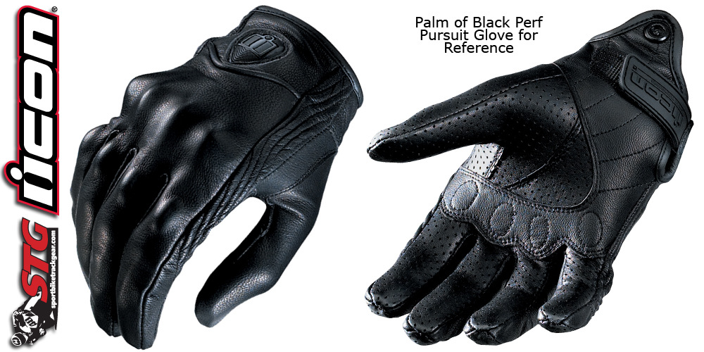 ถุงมือขี่มอเตอร์ไซค์ ยี่ห้อ Icon รุ่น Glove ICON หนังแท้ ไซน์ L