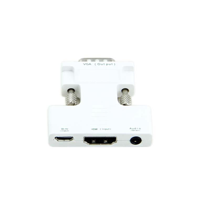 หัวแปลงสัญญาณภาพ HDMI เป็น VGA HDMI to VGA Converter (สีขาว)
