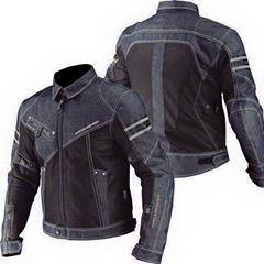 เสื้อการ์ดขี่มอเตอร์ไซค์ Komine Jeans สีดำ