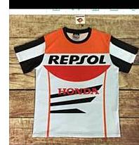 เสื้อยืดเสื้อยืดขี่มอเตอร์ไซค์ Repsol honda