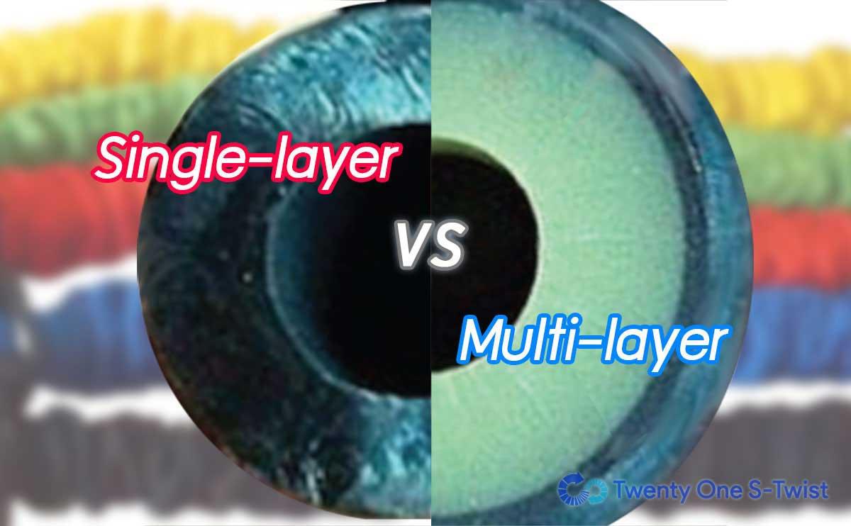 รูปแสดงความแตกต่างระหว่าง single layer และ multi layer