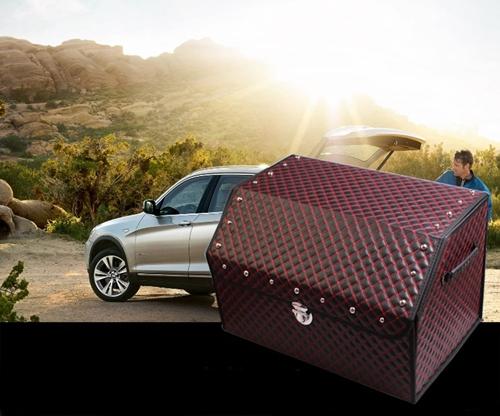 กล่องใส่ของหลังรถยนต์ อเนกประสงค์ สไตล์ VIP แบบหรูหรา สี ดำ,ดำ/แดง